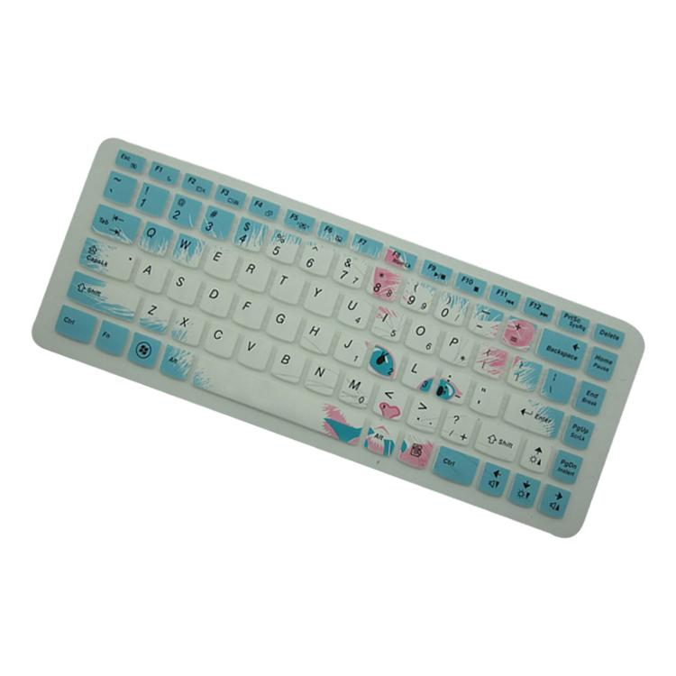 时尚it联想021(z380,g480)笔记本电脑可爱猫咪印字键盘保护膜(裸)不含